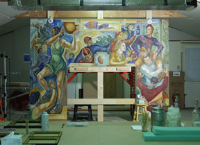 Color Mural Easel