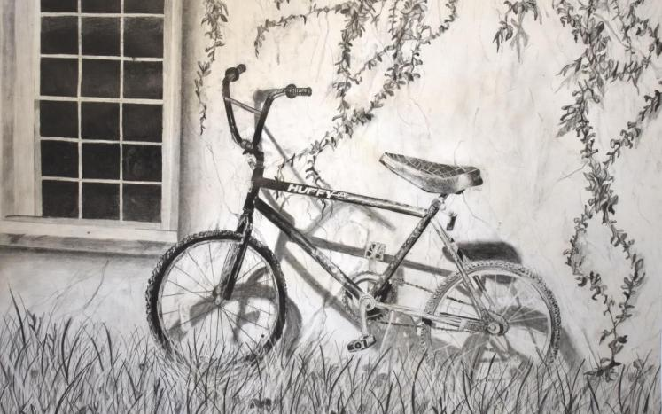 Best in Show, bicycle against wall